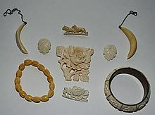 Lot of Ivory Jewelry