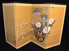 4 Panel Japanese Painted Screen