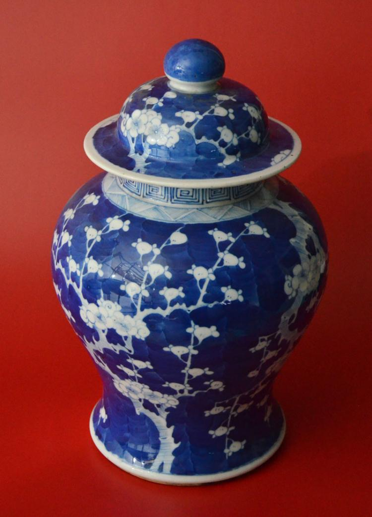 Antique Chinese Porcelain Covered Ginger Jar