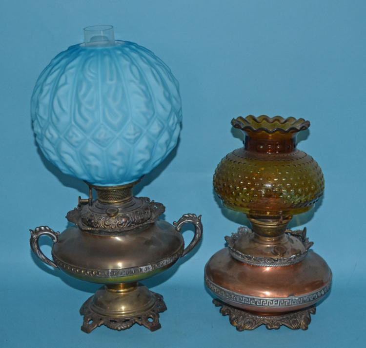 2 Oil Lamps Including Bradley & Hubbard