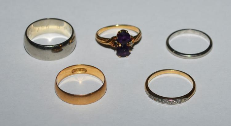 Lot of Miscellaneous 14k, 18k Gold Rings