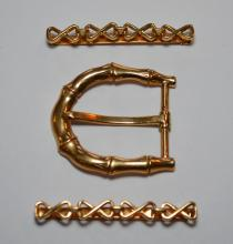 Vintage Tiffany & Co. 14K Gold Hair Clips & Belt Buckle