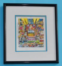 Charles Fazzino 3D Pop Art Off Broadway Signed Edition
