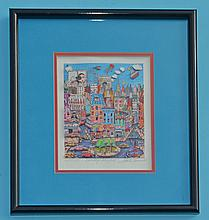 Charles Fazzino 3D Pop Art Hooray NYC Signed Edition