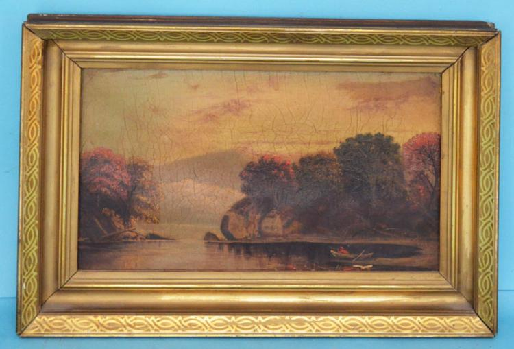 19th Century Hudson Valley Duck Hunting Painting