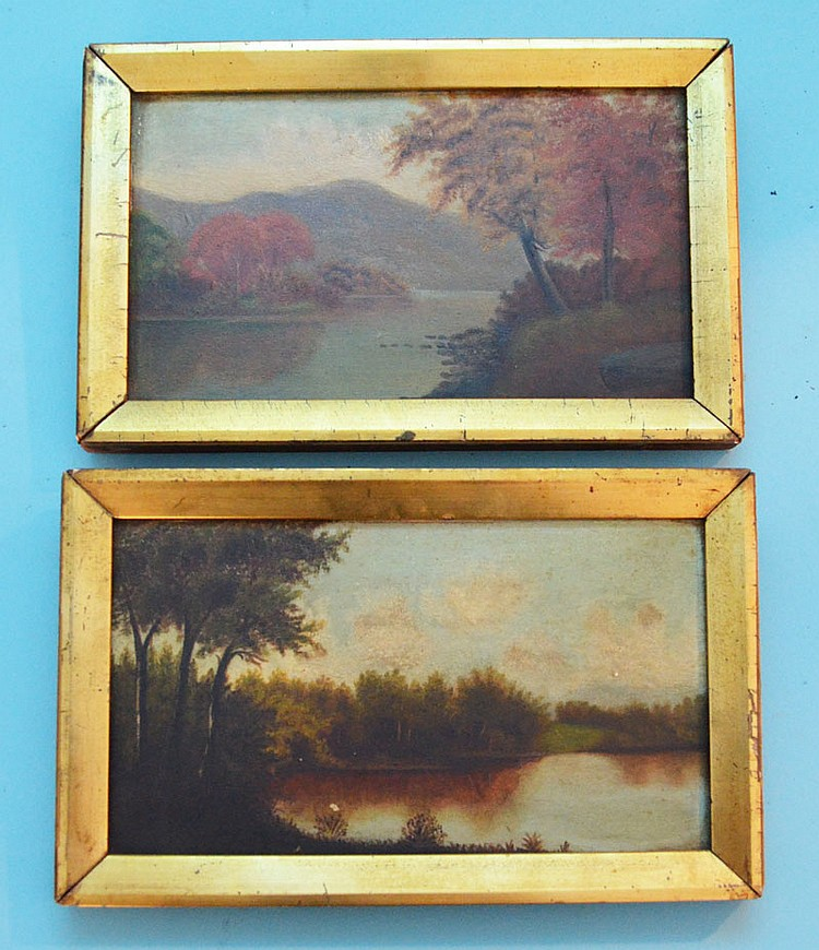2 Small Hudson River Valley Paintings on Board