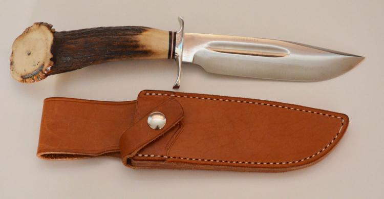 Barker River Stag Horn Handle First Run Knife