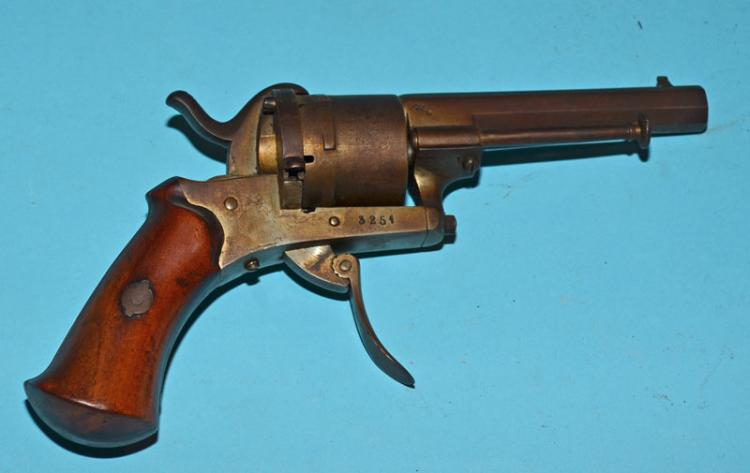 Antique German 6 Shot Folding Trigger Revolver