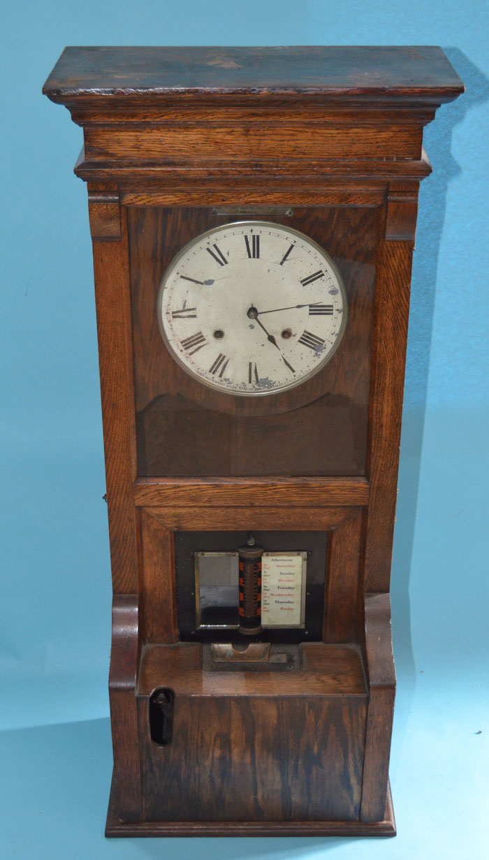 Cincinnati Time Recorder Co Tall Oak Time Clock