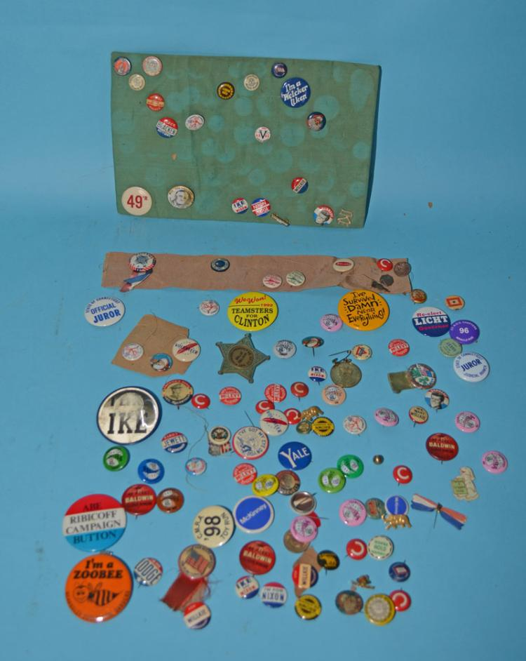 Large Collection Of National & Local Political Pins