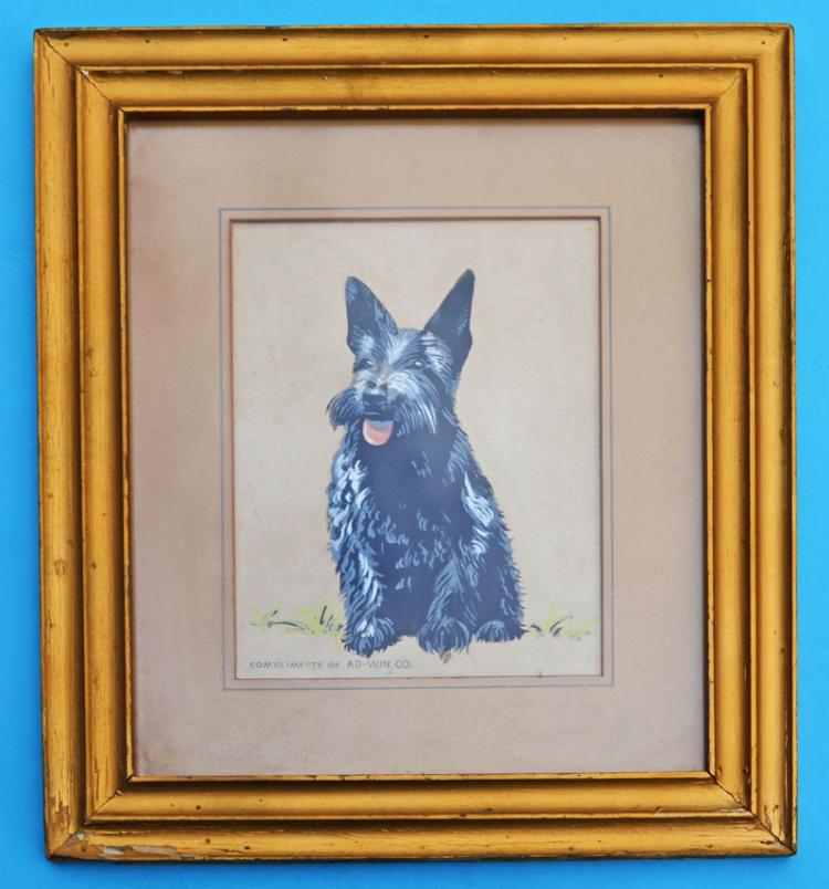 Compliments of Ad-Win Co Painted Scottie Dog