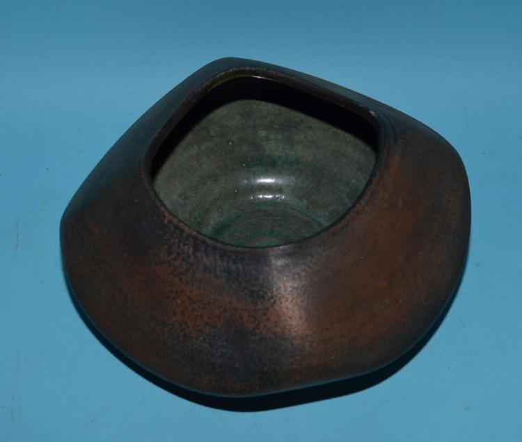 Signed Weinberg Raku Pottery Bowl/Vase