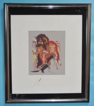 Signed Woody Crumbo Original Silkscreen Painting