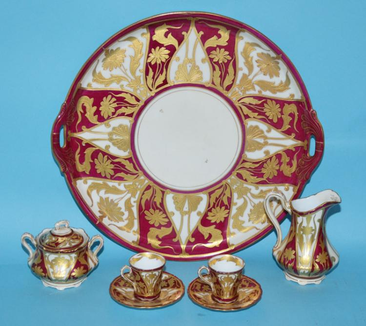 Elegant Ovington Brothers Porcelain Demitasse Set