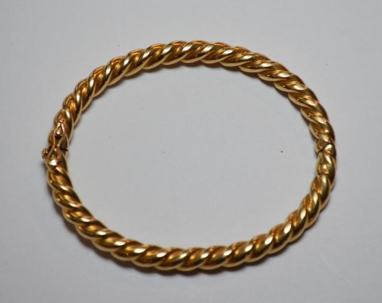 Vintage Italian 14k Gold Rope Bracelet