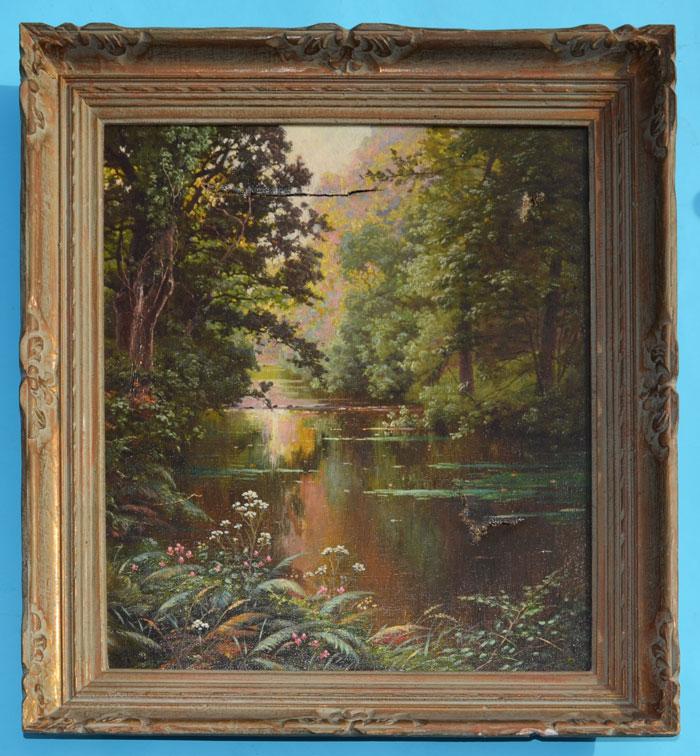Rene Charles Edmond Landscape River Scene Painting