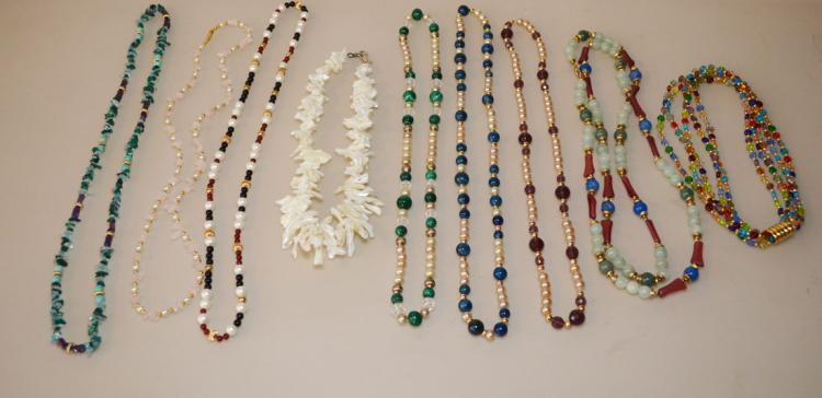 Lot of Vintage And Antique Beaded Necklaces