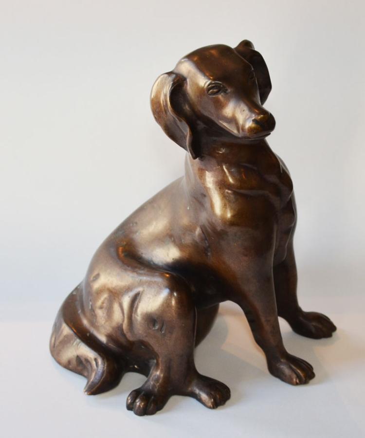 Wonderful Bronze Dog Statue