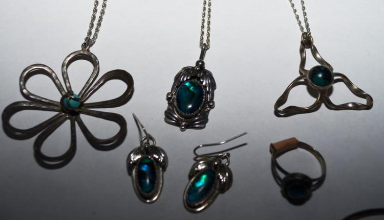 Collection of Sterling Silver Necklaces & Jewelry