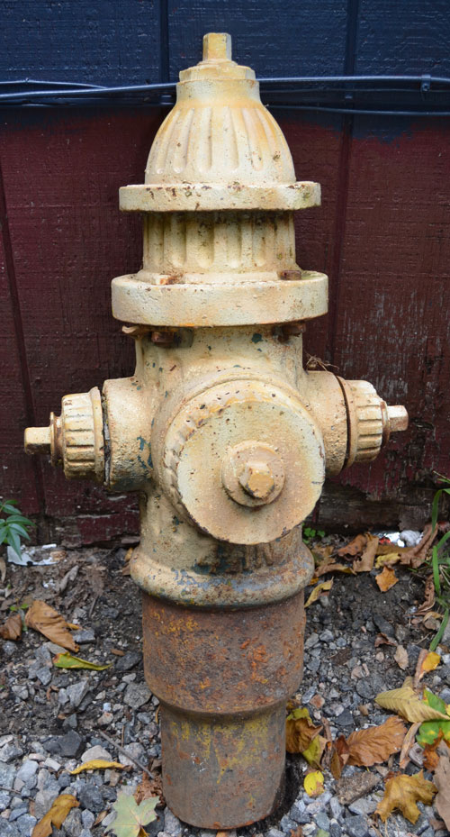 R.D. Wood Yellow Painted Fire Hydrant