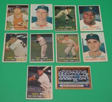 10- 1950's New York Giants Baseball Cards ( Mays)
