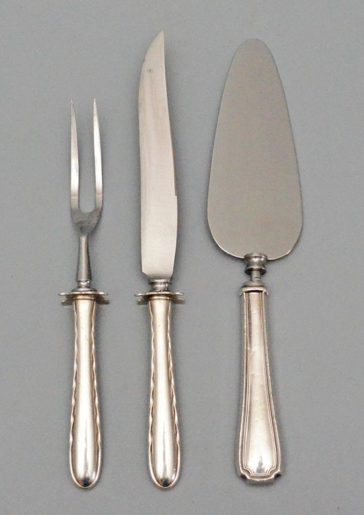 Sterling silver carving set spoon