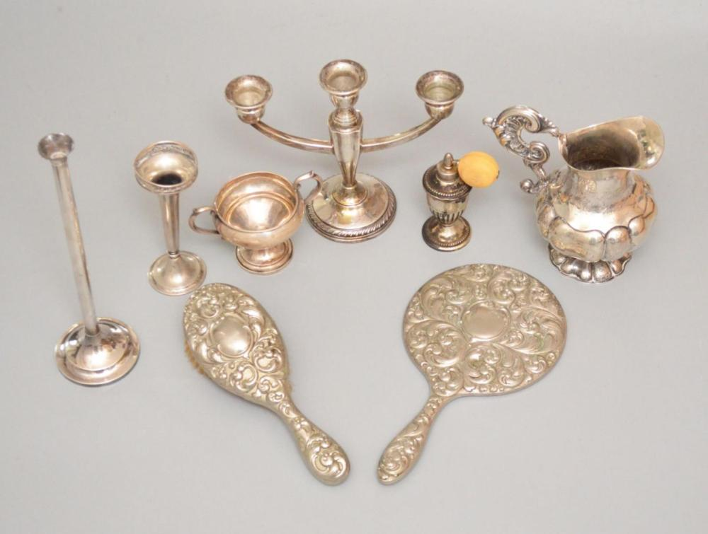 Lot Of Interesting Vintage Silver & Plate Accessories