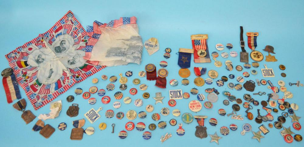 Huge  Lot Of  Early Campaign Buttons