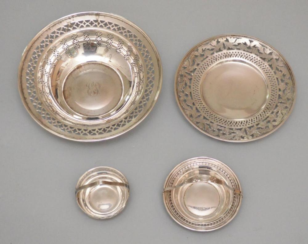4 Vintage Sterling Silver Dishes