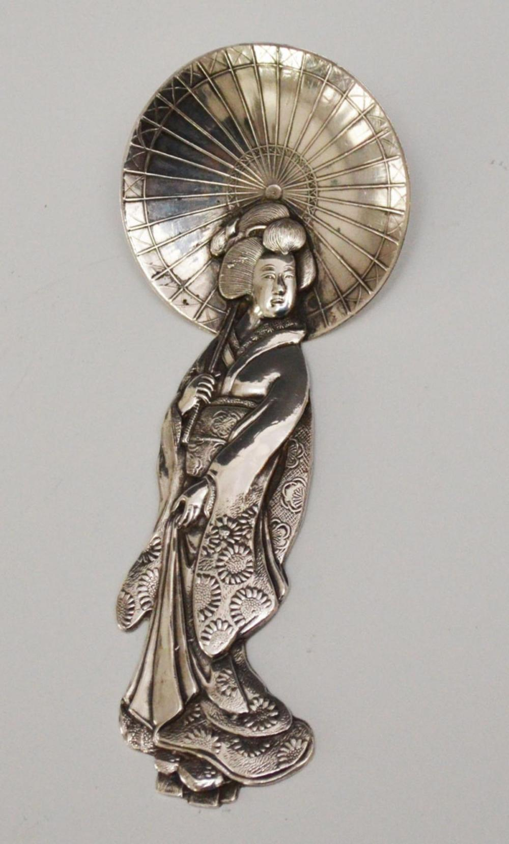 Japanese Geisha Sterling Silver Spoons