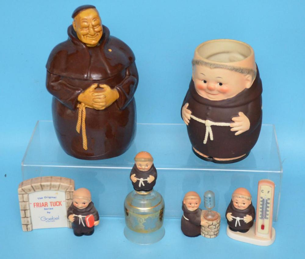 Nice Lot Of Vintage Goebel; Friar Tuck Collectibles