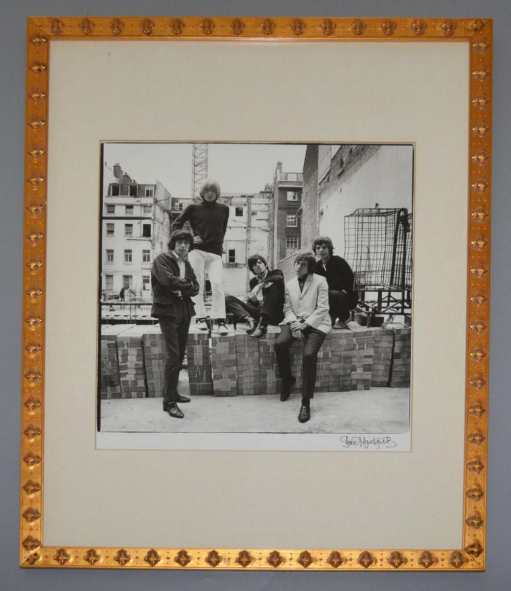 Gered Mankowitz Signed Rolling Stones Photograph