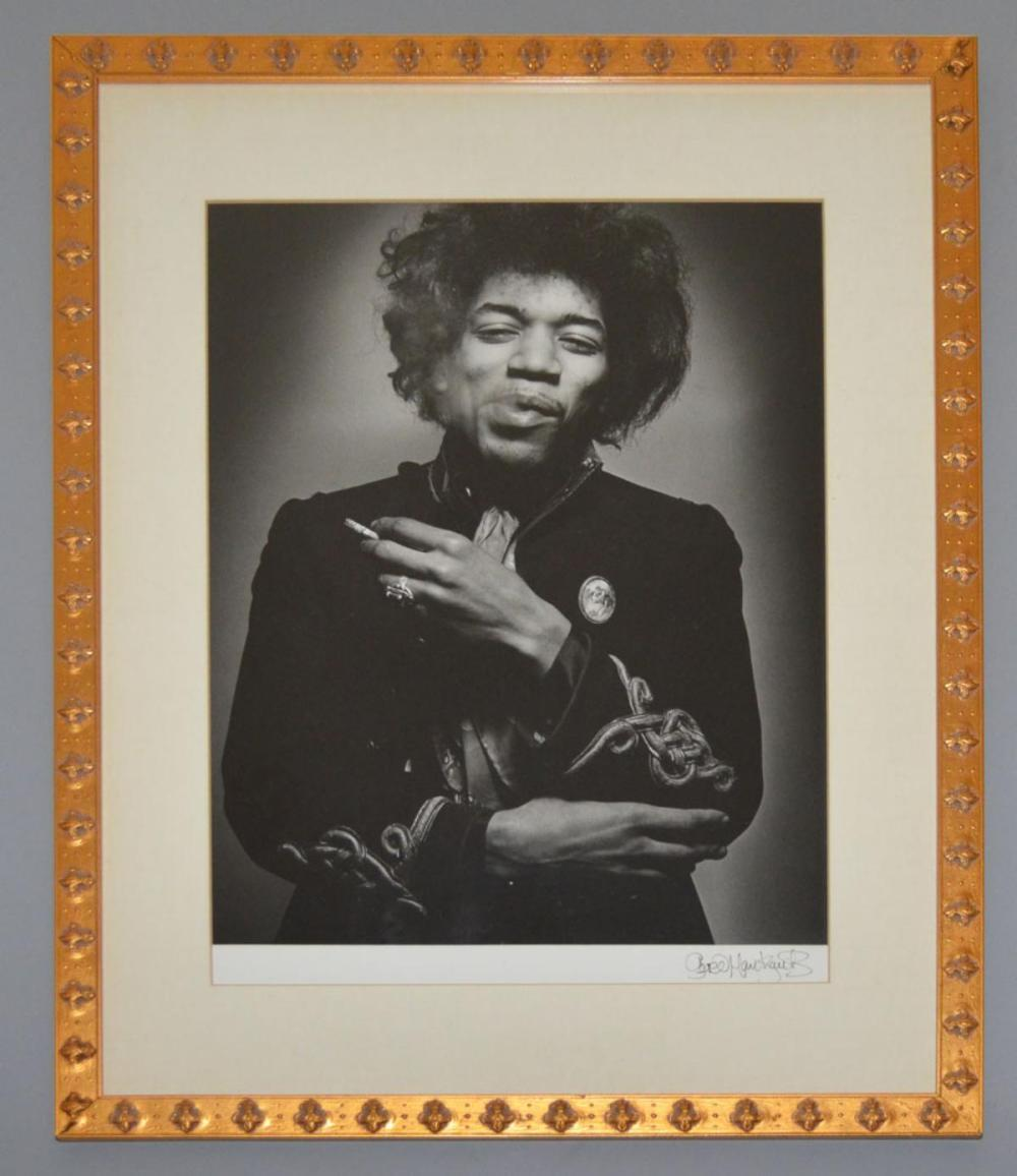 Signed Gered Mankowitz Jimmy Hendrix Photograph
