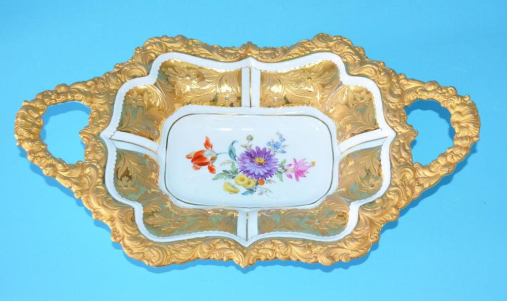 Stunning Gold Encrusted Meissen Bowl