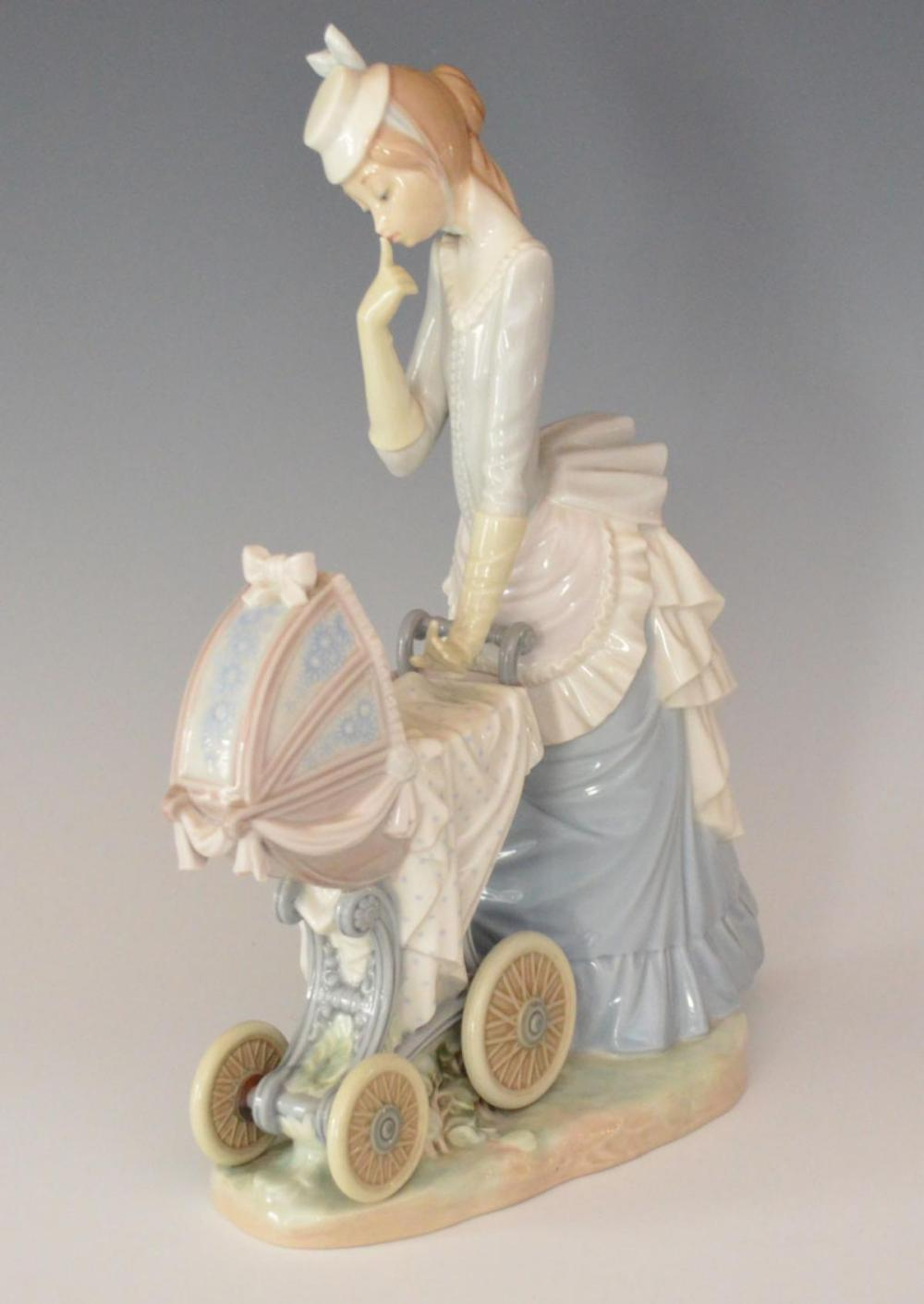 Large Lladro Baby's Outing - Retired