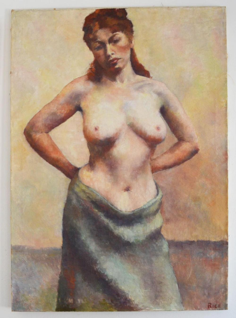 Anne Rice Nude Woman Portrait Oil Painting