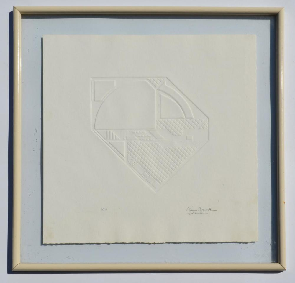 Signed & Numbered Architectural Embossed Image