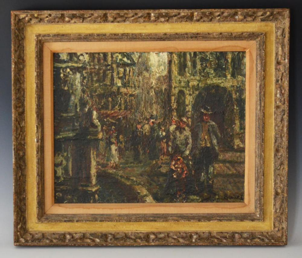 Illegibly Signed Impressionist Painting