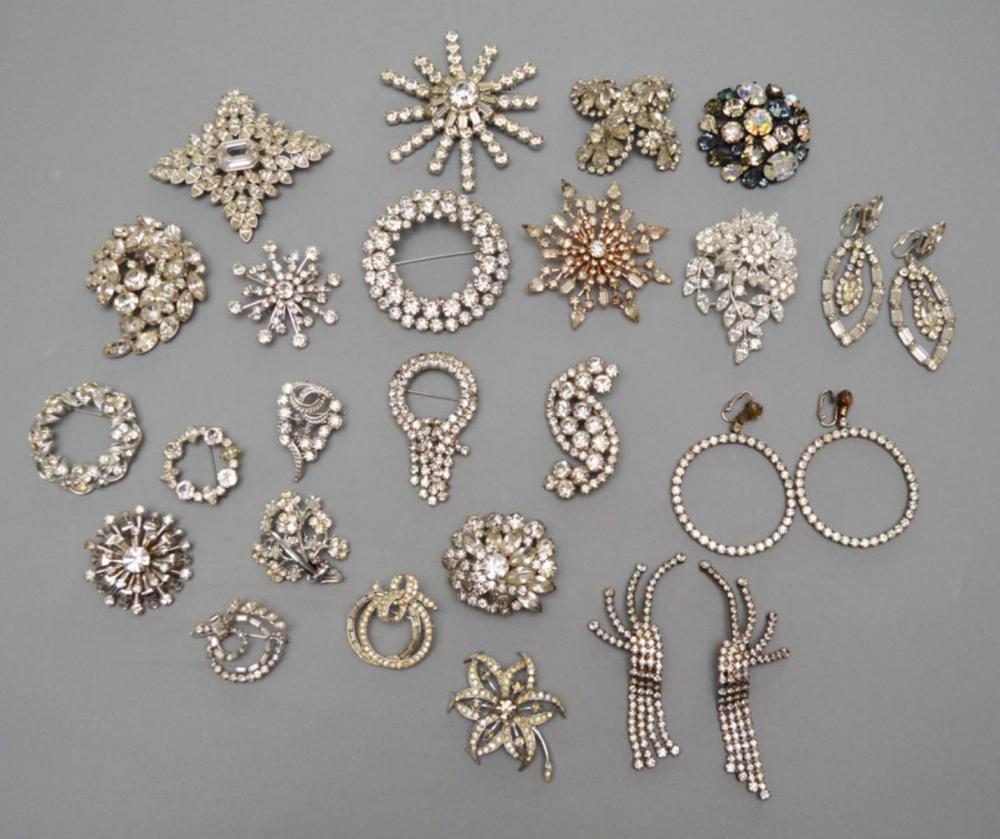 Lot of Vintage Pins Dripping in Rhinestones