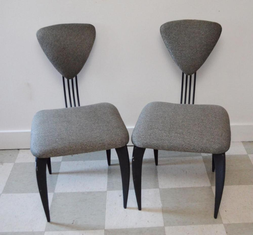 6 Mid Century Modern Iron Dining Chairs