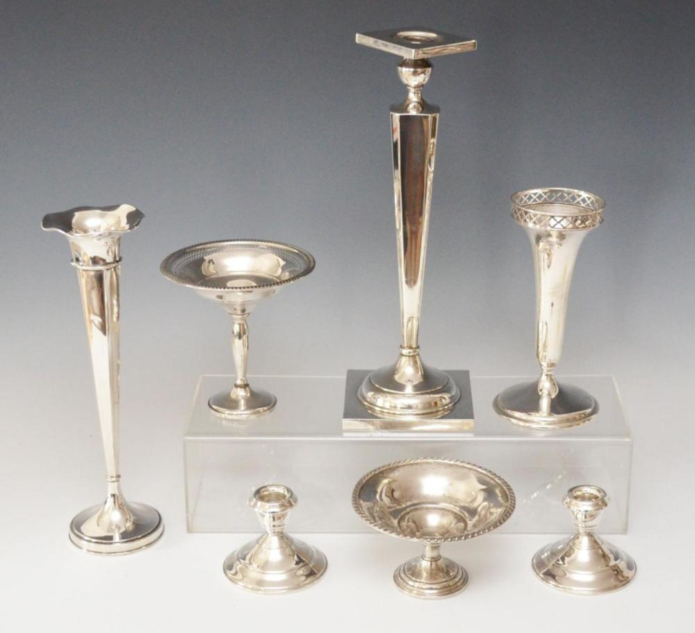 Lovely Lot of Sterling Candlestick & Vases