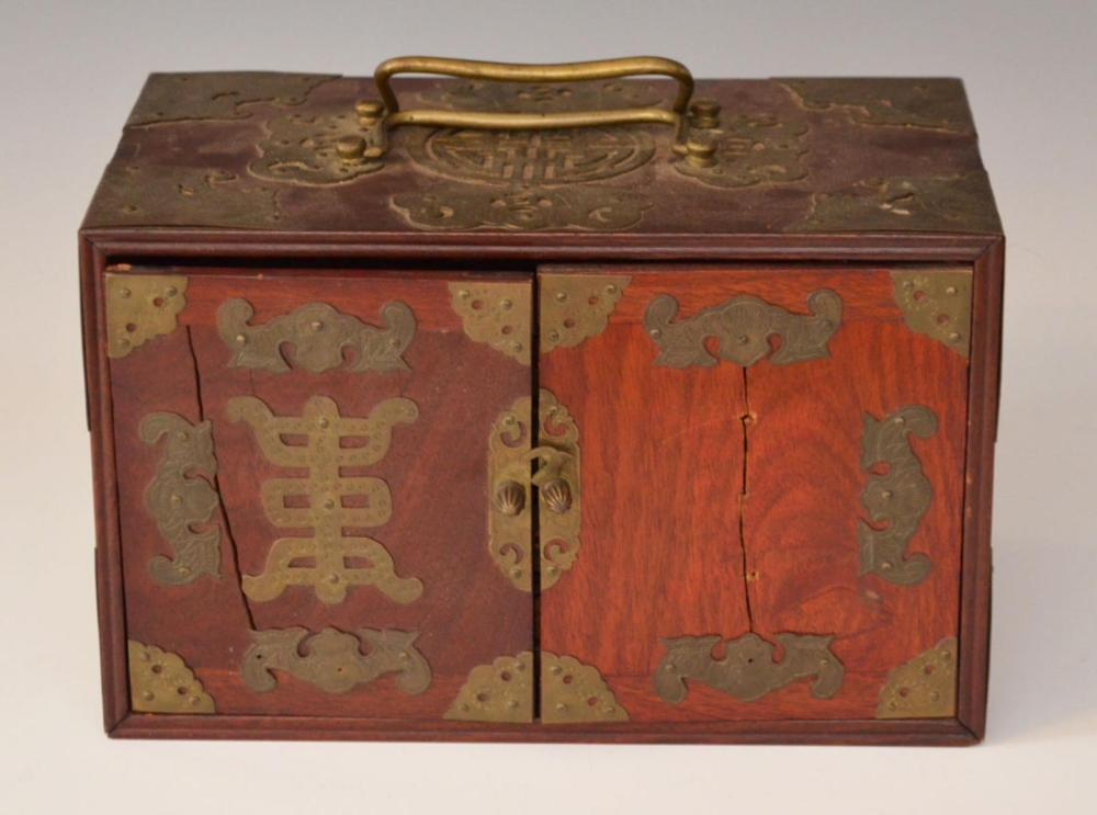 Vintage Chinese Rosewood Mahjong Set