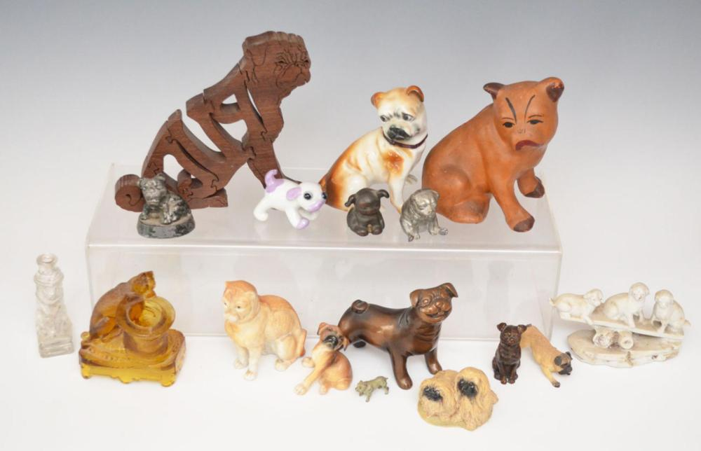 Lot Of Pug & Other Dog Figurines