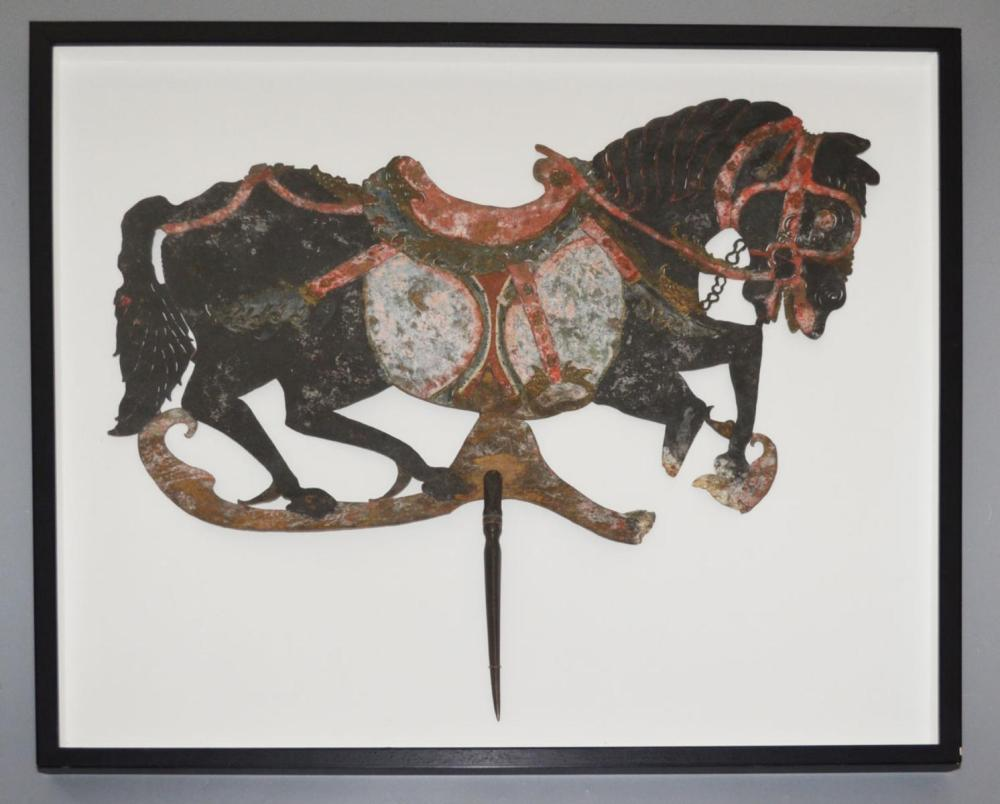 Antique Indonesian Shadow Puppet Horse