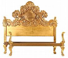 Bed, gilded woodwork