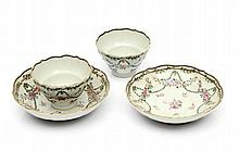 PAIR OF CUPS WITH SAUCERS