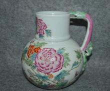Chinese Famille Rose Porcelain Ewer