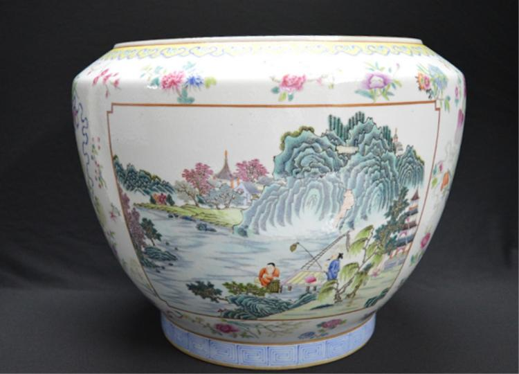 Chinese Famille Rose Porcelain Squat Jar