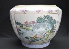 Chinese Famille Rose Porcelain Squat Jar