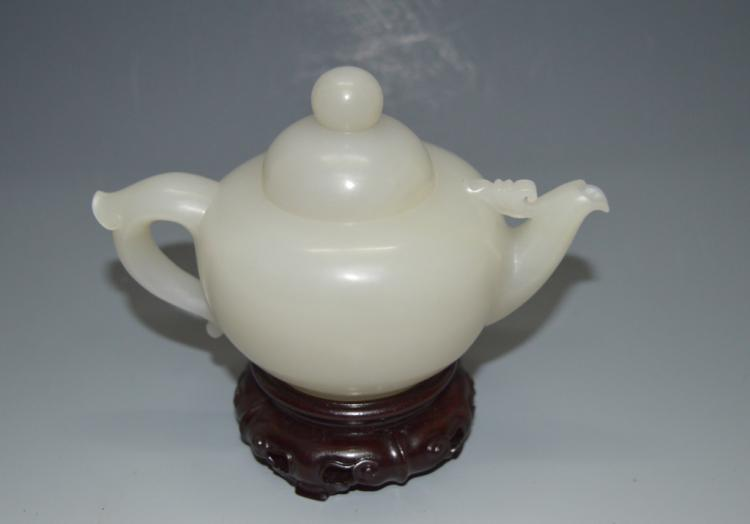 Hetianyu Jade Tea Pot